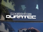 DOHC Duratec Decal - fits Ford Focus - 6 Inches Long Many Colors