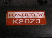 Powered by K20Z3 Decal- 2 color 2006-2011 FA5 FG2 / Motor Swap