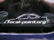 Two Focal-Point Sedan Decals - 4 Door Ford Focus Stickers