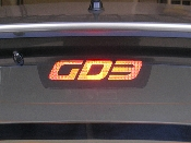 Rear Brake Light Decal - fits 2007-2008 Honda Fit 07-08 GD3