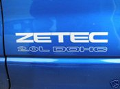 ZETEC 2.0L DOHC Decal Set