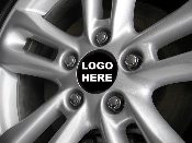 Five Wheel Center Cap Decals- Ford Focus Many Sizes Colors Logos