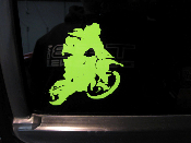 Dirt Bike Rider Decal Style 2 - Many Sizes / Colors Dirtbike