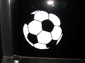 Soccer Ball Decal - Many Sizes - Soccer Ball Sticker