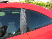 Carbon Fiber Door Pillar Decals 2006-2011 Honda Civic Coupe / Si