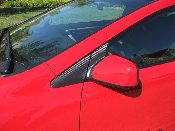 Carbon Fiber Triangle / Mirror Decals- 2006-11 Honda Civic Coupe