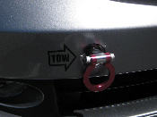 Front Tow Hook Vinyl Decal with Arrow - fits Honda Acura BMW All