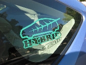 Hybrid Car Decal - Toyota Prius / Honda Insight - Vinyl Sticker