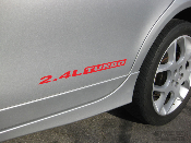 2.4L TURBO Decals for the 03-05 Dodge SRT-4 (x2 Decals)