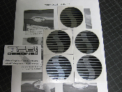Saleen Center Cap Decals - Many Sizes- Ford Mustang S281 S351