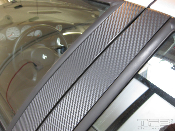 3M Carbon Fiber Door Pillar Decals- 2008-2011 Ford Focus Sedan