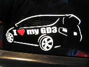 Detailed I Love my GD3 Decal 2007-2008 Fit GD3 07-08 GD