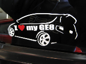 Detailed I Love my GE8 Decal 2009-2011 Honda Fit GE8 09-11