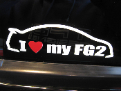 I love my Honda Civic Si FG2 coupe decal