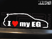 I love my Honda Civic EG hatchback decal