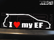 I love my Honda Civic EF hatchback decal