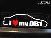 I Love my DB1 Decal 1990-1993 4dr Sedan 90-93