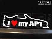 I Love my AP1 Decal 2001-2003 01-03 AP1
