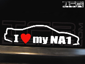 I love my Acura NSX NA1 decal