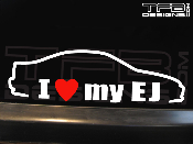 I love my Honda Civic EJ coupe decal