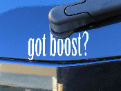 Got Boost? decal vinyl sticker