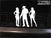 Pimp with hoes family decal