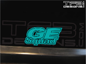 This is a GE Squad decal made from precision cut vinyl.