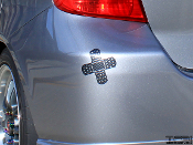 Double Band Aid Style Decal - Bandage Bandaid JDM Vinyl Sticker