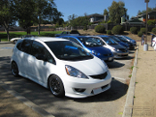 09 honda fit ge8 white nor cal fit meet