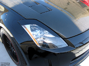 Headlight eyelids for the 2000-2006 Nissan 350Z.