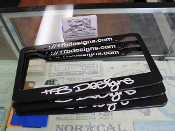 TFB Designs signature license plate frames.