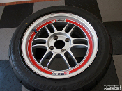 Enkei RPF1 rim lip decals for 15 inch RPF1 wheels.
