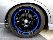 Rim lip decals for Enkei RPF1 wheels. These stripe decals add an accent color to your wheels.