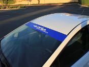 Solid colored windshield banner for the 2009-2013 Toyota Prius.