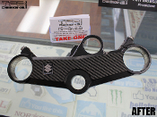 Carbon fiber triple clamp decal for the 2001-2003 Suzuki GSXR 600.