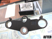 Carbon fiber triple clamp decal for the 1991-1994 Honda CBR 600 F2 motorcycle.