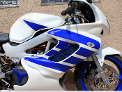 This is a full set of wing graphics for the 1997-2005 Honda VTR1000F SuperHawk.