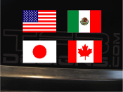 Full color flag vinyl decal, many sizes, many countries.