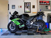 Full fairing graphics kit for the 2007-2008 Kawasaki Ninja ZX-6R.