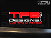 TFB Designs printed and cut vinyl decal.