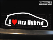 I love my hybrid vinyl decal.