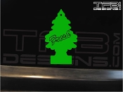 This is a precision cut vinyl decal that reads Fresh and features a tree.