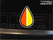JDM experienced driver badge vinyl decal.