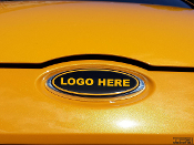 Emblem Decals (x3) 2013-2014 Ford Focus ST- LOGO OF YOUR CHOICE