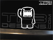 JDM Domo character decal.