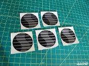 Ford Focus Saleen N02 center cap decals