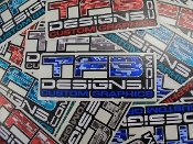 TFB Designs digi camo vinyl decal.