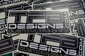 TFB Designs carbon fiber vinyl decal.
