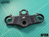 Carbon fiber triple clamp decal for the 2000-2001 Honda CBR929RR motorcycle.