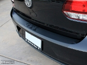 Rear bumper overlay for the Volkswagen GTI and VW Golf